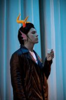 Cronus Ampora cosplay - lone guy with a smoke by Dead-Batter
