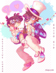 [speedpaintsu] Kaito Kid and Detective Conan by Cheapcookie