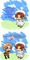Chibitalia- Canada and Italy- Best friends by Averylilith