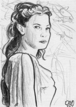Arwen sketch card by tdastick