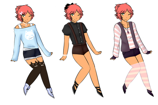 Nimuel outfits by helladespair