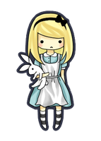 Alice keychain design? by paperunicorns