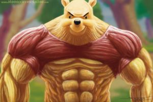 Bad ass Winnie Pooh by AtomiccircuS