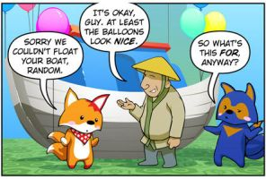 Rocket Fox 9 panel 1: Alliteration Attack! by StacyKing