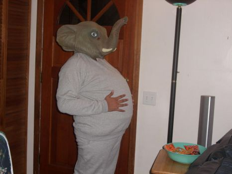 Elephant Costume 4: Rubbin' My Big 'ol Tummy by Dontbow