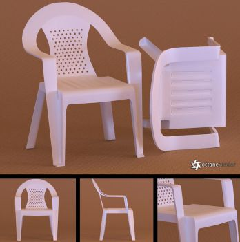 Plastic Chair (Free Model) by LuxXeon
