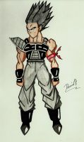 Ovack The Saiyan Warrior by DavidsKovach