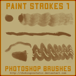 paint stroke brushes 1 by chokingonstatic
