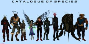 Major Sentient Species Visual Guide by ILJackson