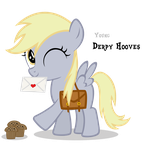 Derpy Hooves Filly by Blackm3sh