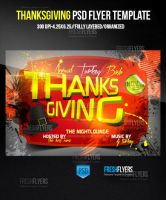 O-Give-Thanks Party Flyer Template by ImperialFlyers