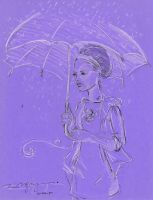 Colorpaper 03 - White Umbrella by timmieee