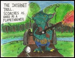 The Internet Troll by zxcvsaw