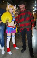 Juliet Starling with Freddy Krueger by Helen-Stifler