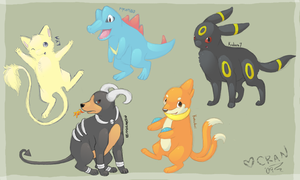 POKEMANS FOR MY HOMIESSS by CranberryNoodles