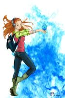 blue-fire starter by aillia