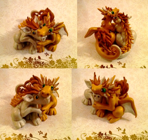Gold Dragon Couple by Alexandrite-Dragons