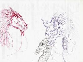 Ink dragons by Shadow-Lockheed