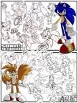 Sketches-Sonic+Tails by herms85