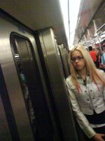 a girl in the subway by kiradante