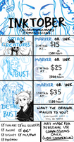 2015 Commission Sheet: INKTOBER by colormymemory