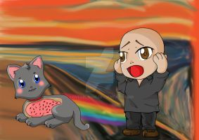 Nyan Cat Meets 'The Scream' by LovesBloom