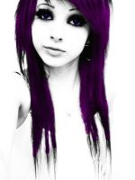Purple and White with Black by Artifice1221
