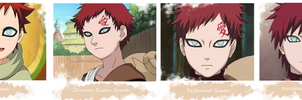 Gaara Through the Years by aquamarinetiger98