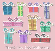 100 Watchers--Free Gifts! by SimplySilent
