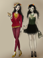 Comish- Aradia and Meulin by M00seM0use