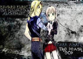 Ed and Maka by bloodbendingmaster97