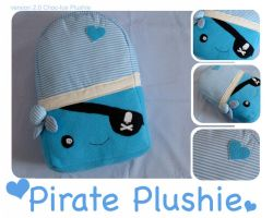 Pirate Plushie, Lolly ver. 2.0 by fuzzy-jellybeans