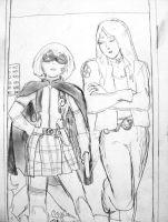 Hit-Girl and X-23 by Omnipotrent