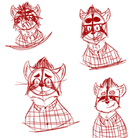 Pie sketches! [HH] by rainadoodles