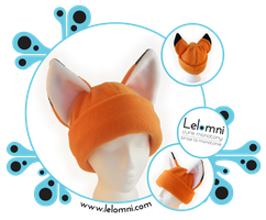 The Fox - Fleece hat by Lelomni