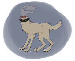 SPOOKY GHOST DOG by babezord