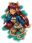 Monster high Freaky Fusion Cleolei by QueenTrefl