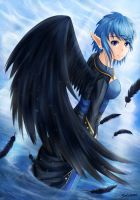 Black winged Angel by Sylvae00