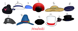 MMD Hat Pack 1 DL by 2234083174