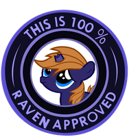 100% Raven Approved by MLP-Scribbles