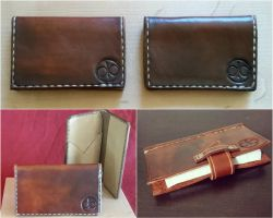 Leather Wallets and Journal by passbyguy