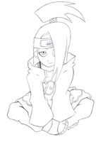 Deidara of the Akatsuki by SamanthaJones29