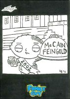 Family Guy black and white sketch card - 48 by KBustAMove