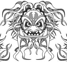 oriental mask Tattoo vector by cgianelloni