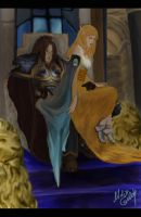 On the throne of Stormwind by Maryka-di-gold