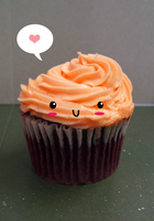 Kawaii cupcake by kwhitebabe