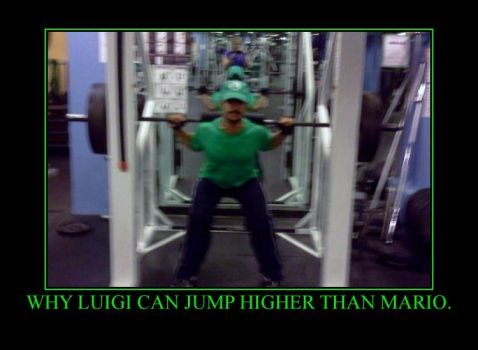 Luigi is the Higher Jumper by NewEnglandLuigi