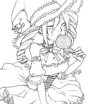 NeoTokyo Halloween Lineart by lumi-mae