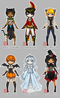 Adoptables 1 || Halloween || Closed by LostAdopt