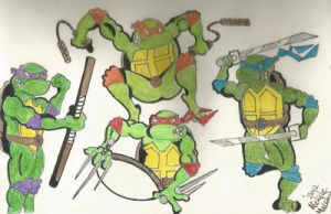 tmnt colored by kylemulsow
